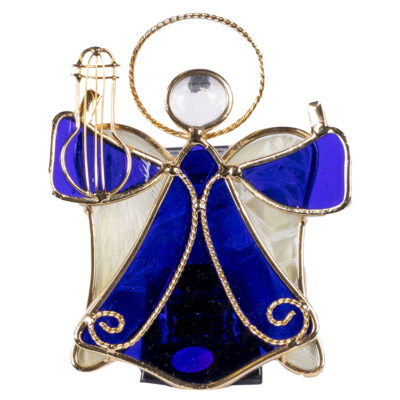 Stained Glass Angel Ornament