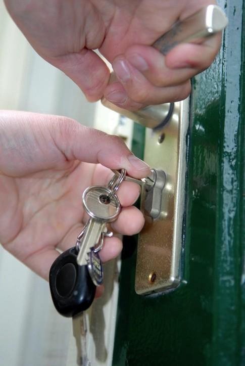 Unlocking front door