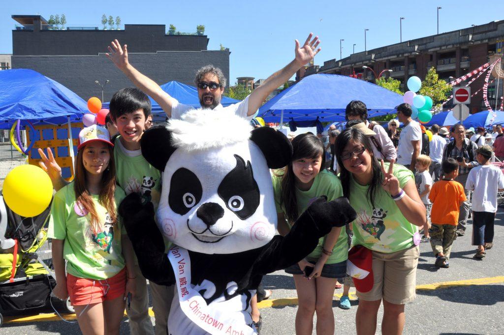 Chinatown panda mascot