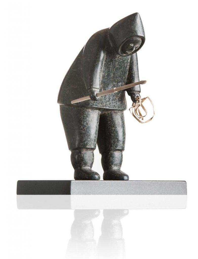 Fishing Inuit Statuette