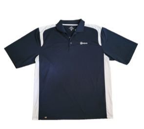 ITpipes Navy Blue and White Polo
