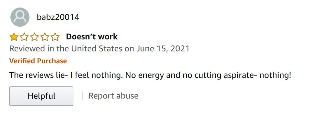 Amazon product review stating that the reviews lie