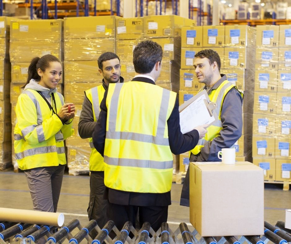 Warehouse workers for an Amazon seller slacking on the job