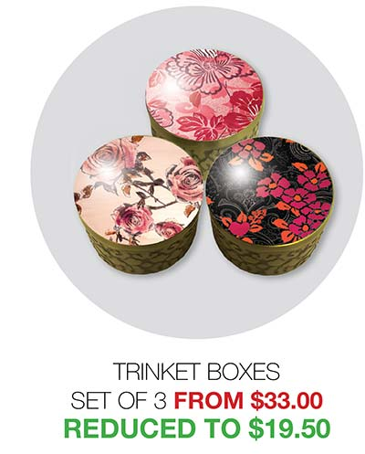 2020 Clearance Trinket Boxes - Reduced to $19.50