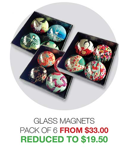 2020 Clearance Glass Magnets - Reduced to $19.50