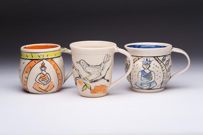 Buddha and Bird Cups