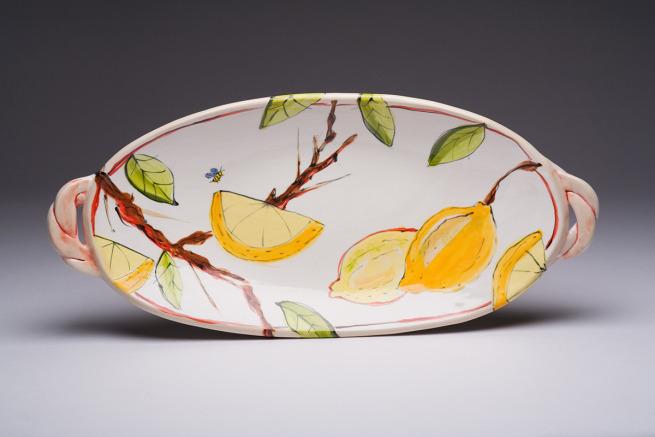 White Lemon Paella Platter