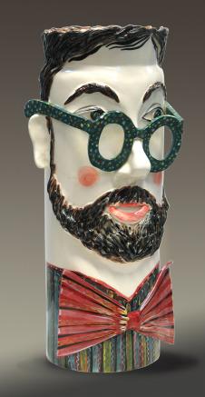 Man Head Vase