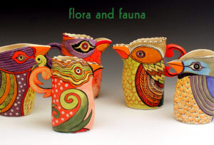 Flora and Fauna show at the Berkeley Potters Guild