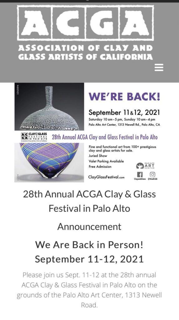 ACGA Clay and Glass Festival at Palo Alto Art Center