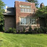Ott-Construction-Montgomery-County-PA-Wynnewood-Exterior-Projects--custom-designed-in-law-suite-6-car-garage-flemish-brick-limestone-window-surrounds-capping-Marvin-windows-outdoor-terrace