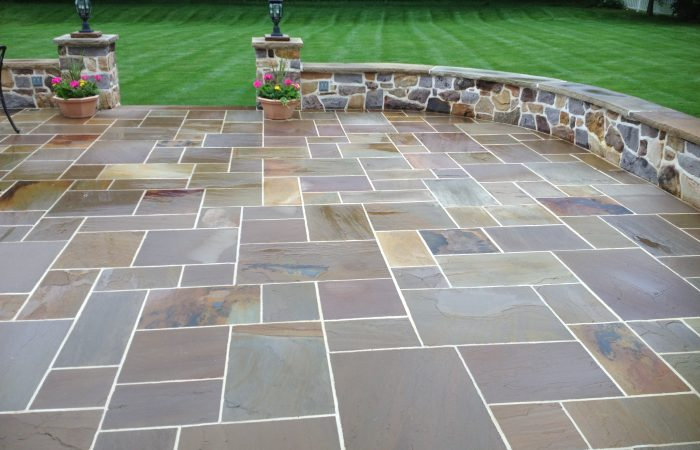 Ott-Construction--Montgomery-County-Pa-Stonework-and-Patios-Custom Flagstone Patio stone sitting wal… walls stone steps