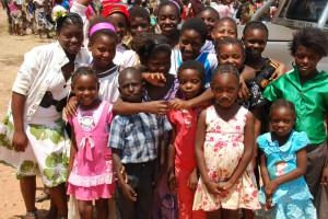 Children from the Mpika Village of Hope Orphanage run by Ms. Jeny Musakanya attending the Independence celebrations.