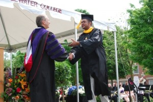 My son Sekani Tembo graduating from Bridgewater College with a Bachelor's Degree in Computer Science and Philosophy in May 2012.