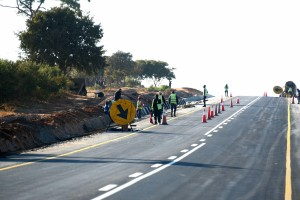 The road from Luangwa to Chipata is being repaved providing temporary jobs.