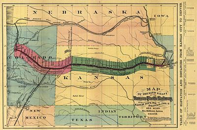 Route of the Kansas Pacific Railroad