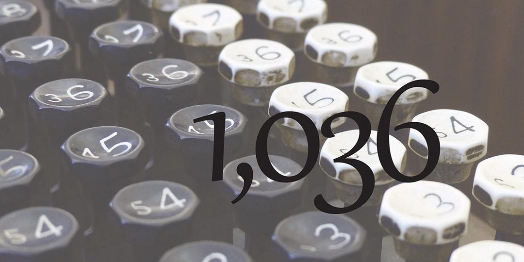 One-thousand thirty-six