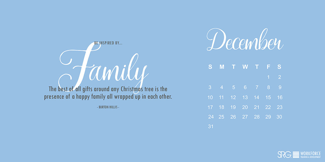 December 2017 Electronic Calendar
