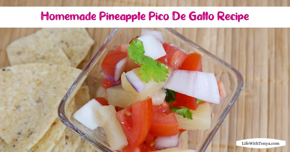 Homemade Pineapple Pico De Gallo Recipe   Fresh Tomato and Pineapple Salsa