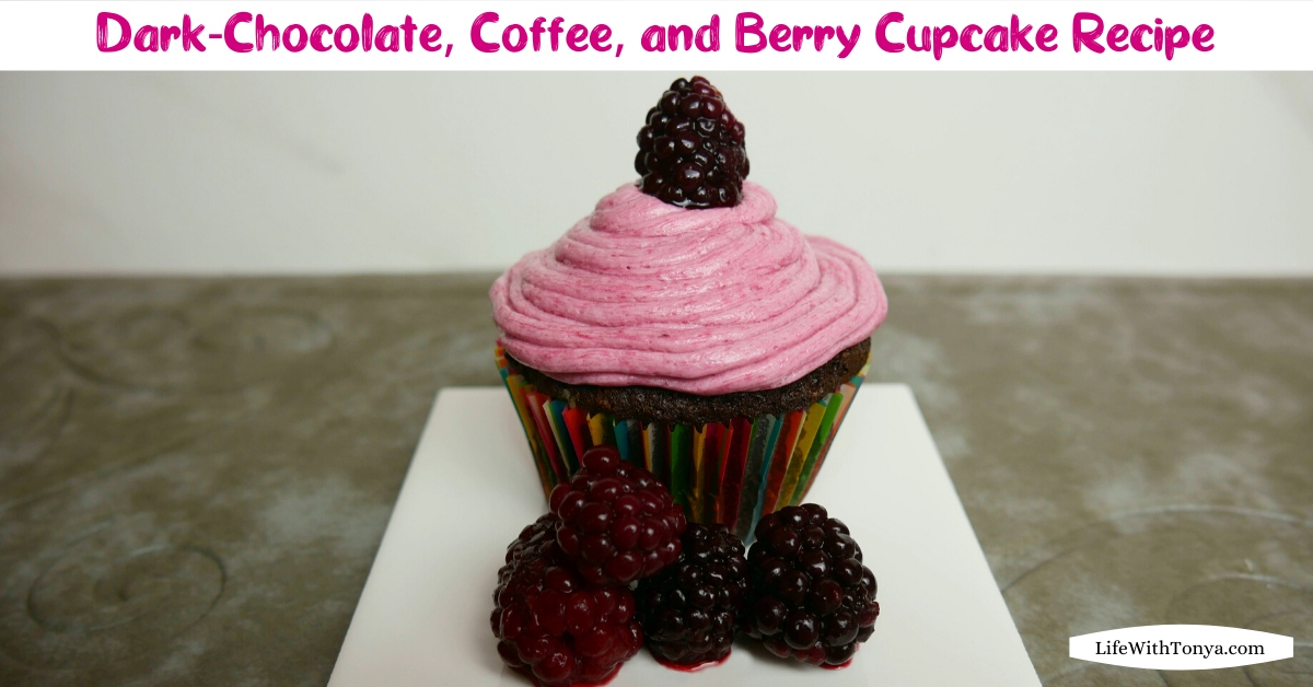 Homemade Chocolate, Coffee, and Blackberry Cupcakes | Easy Dark-Chocolate, Coffee, and Berry Cupcake Recipe