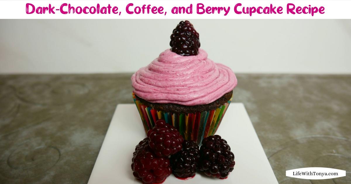 Homemade Chocolate, Coffee, and Blackberry Cupcakes   Easy Dark-Chocolate, Coffee, and Berry Cupcake Recipe