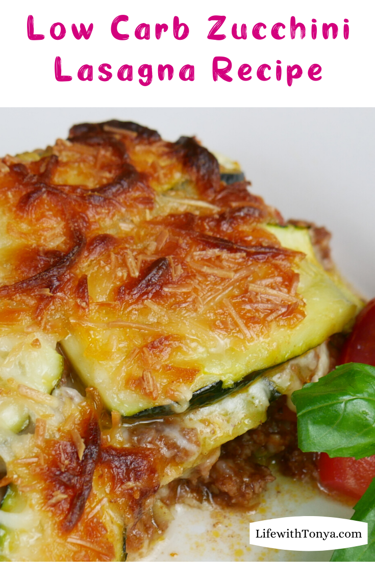 Zucchini Lasagna Recipe   Low Carb Lasagna Recipe