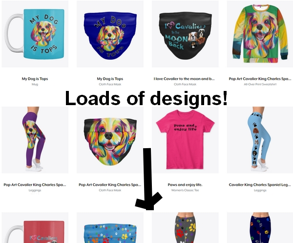 Cavalier leggings, masks and gifts