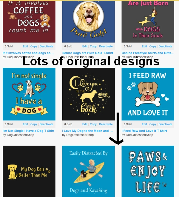 Unique and original dog-themed t-shirts