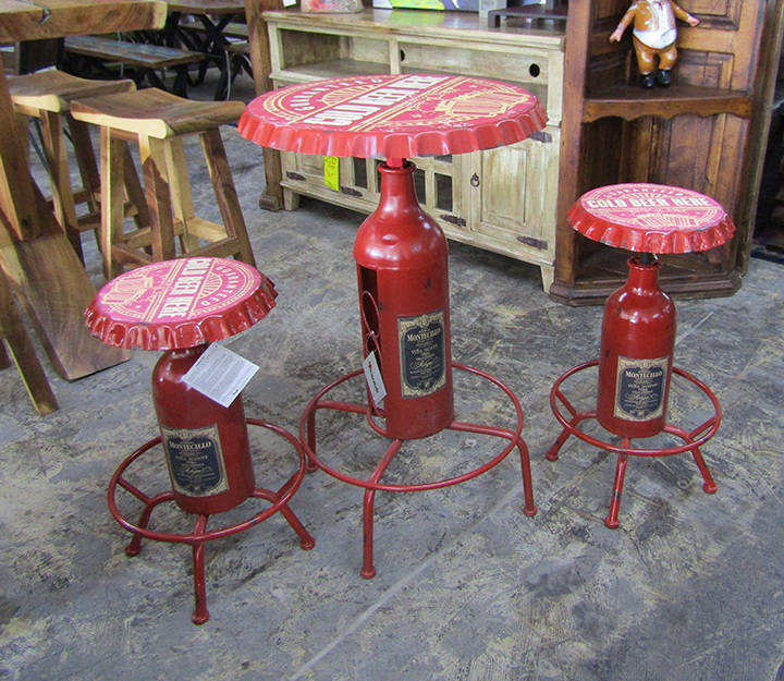 PW-867-727 Bottle Bar Stool