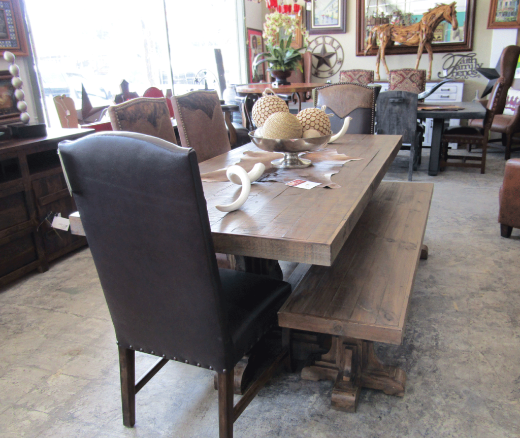 Chateau Dining Table with bench