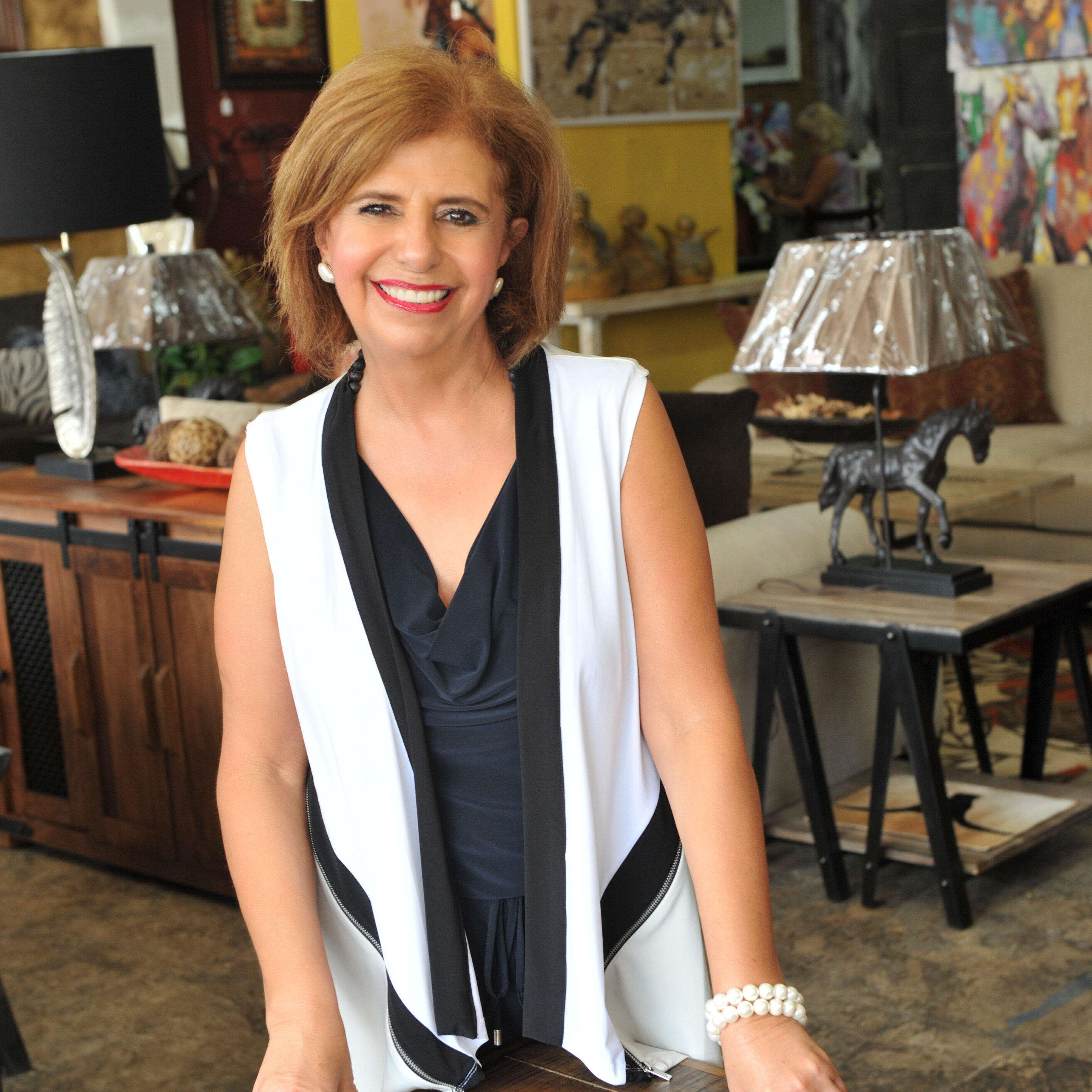 Bernardette Abed, Founder and CEO Santa Fe Terra Western Furniture Store in Weatherford, TX