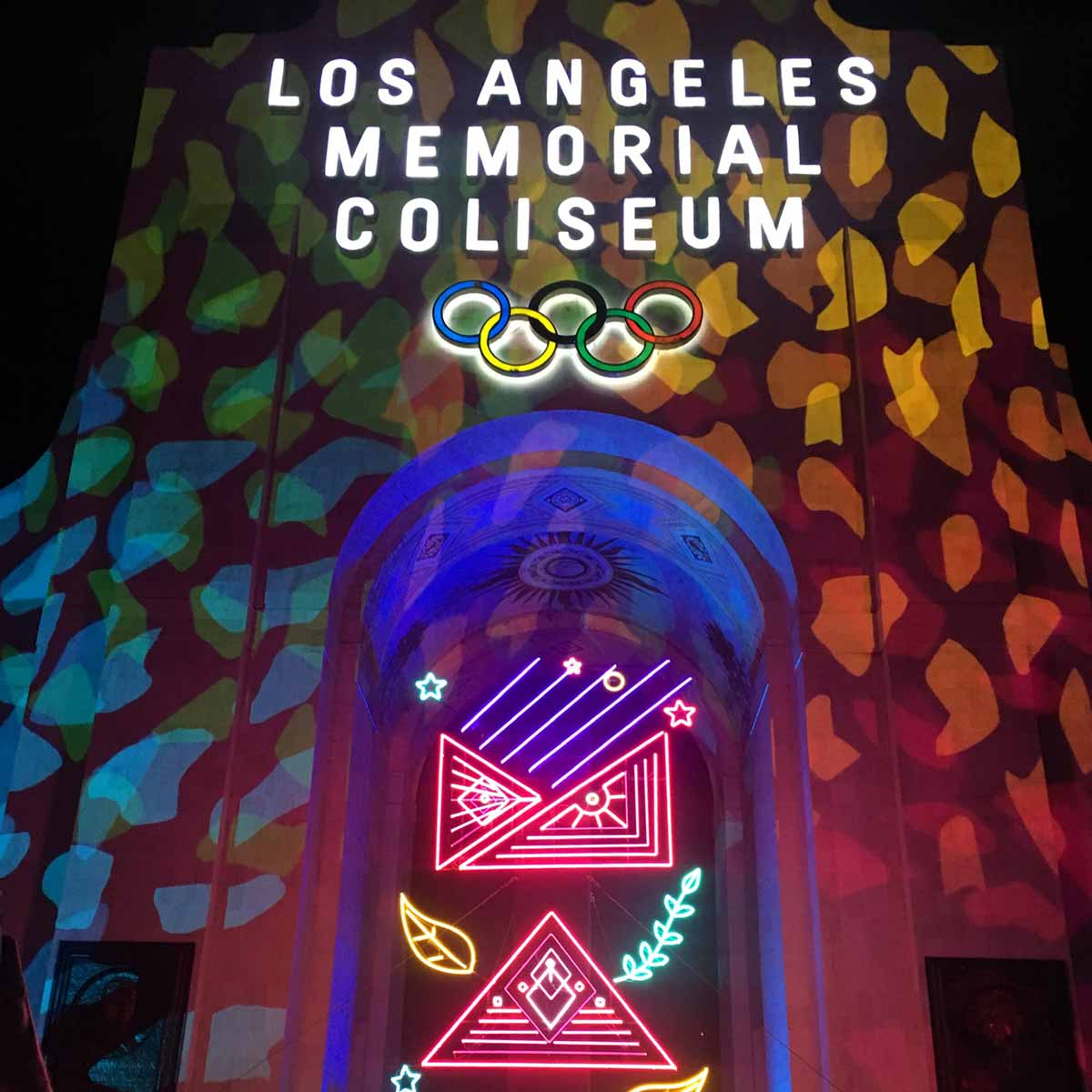 A photo of the los angeles memorial coliseum for the Adobe Max Conference