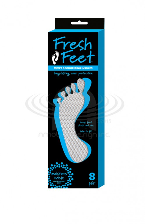 MEN'S FRESH FEET PACKAGE DESIGN AND 3D RENDERING