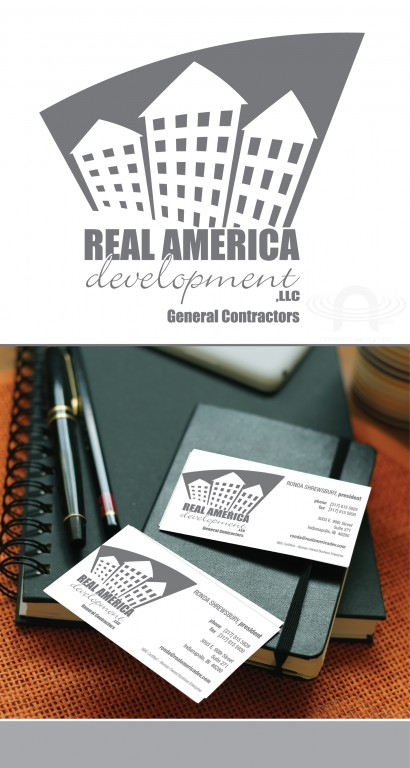 REAL AMERICA LOGO AND BUSINESS CARD