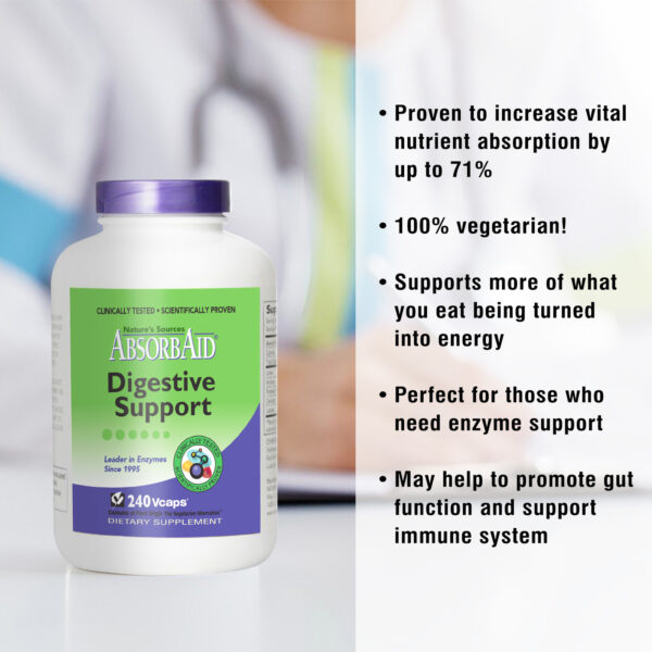 AbsorbAid Original 240 Digestive Enzyme features