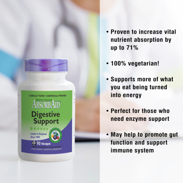 AbsorbAid Original 90 Digestive Enzyme features