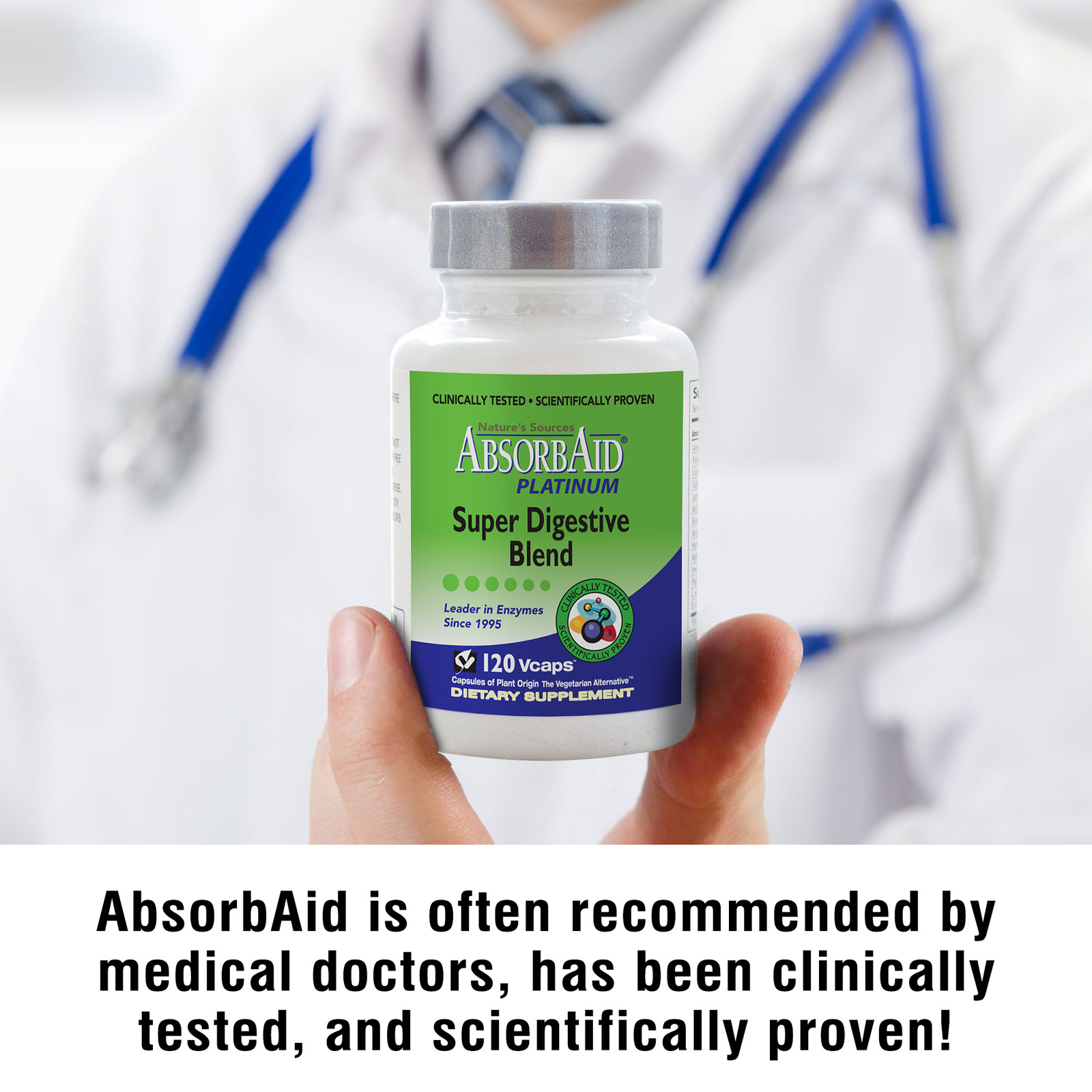 AbsorbAid Platinum 120 Digestive Enzymes doctor recommended