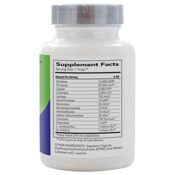 AbsorbAid Platinum 120 Digestive Enzymes bottle label