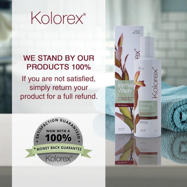 Kolorex Intimate Wash satisfaction guarantee