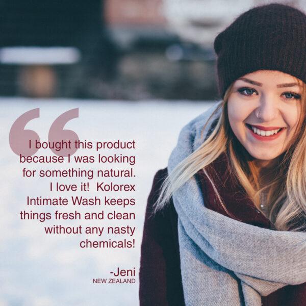 Kolorex Intimate Wash testimonial