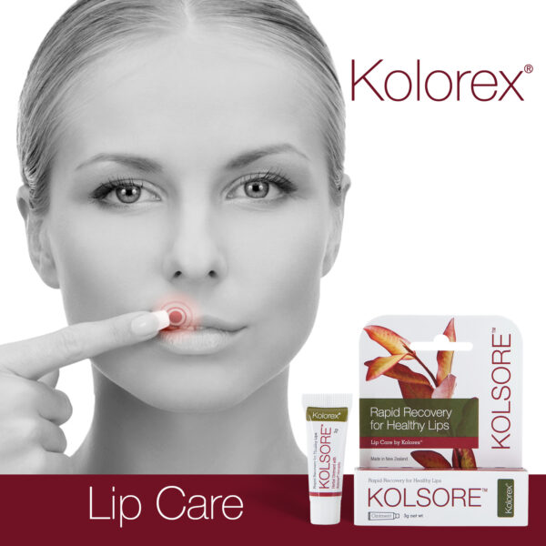 Kolsore Lip Care woman with product