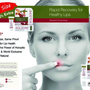 Kolsore by Kolorex – Rapid recovery from lip blistering and outbreaks