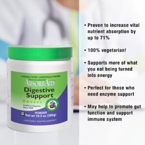 AbsorbAid Original 300g Digestive Enzyme Powder features