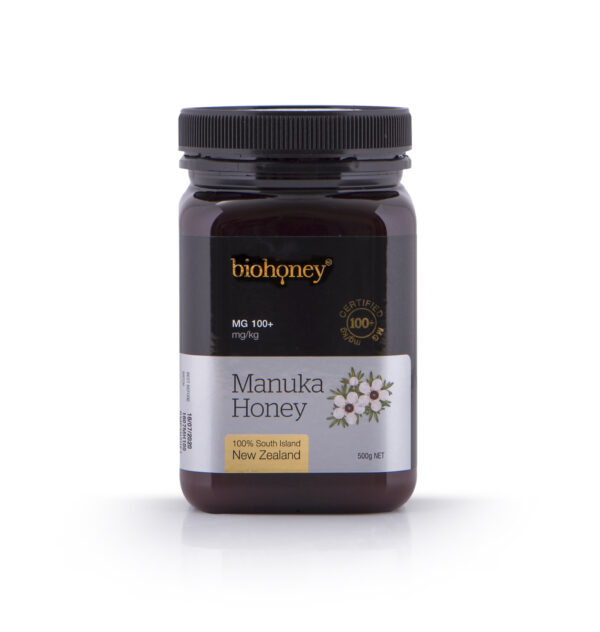 Biohoney Manuka Honey 100 plus MG 500g bottle