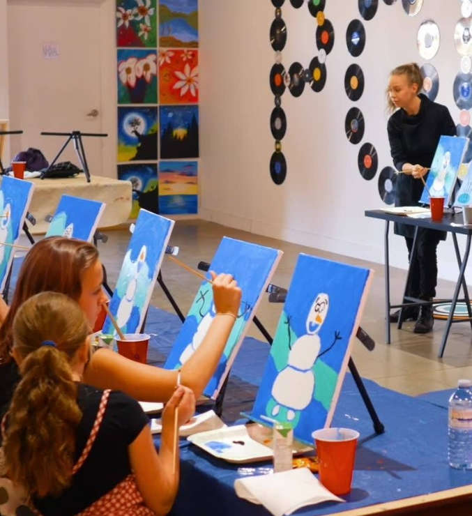 Instructional painting class