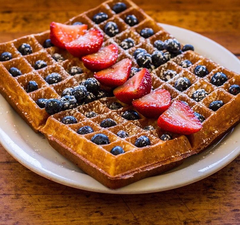 Belgium Waffles - Strawberries