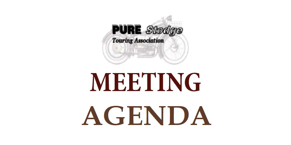 Meeting Agenda – October 25, 2020