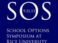School Options Symposium at Rice University on 9/21/13.