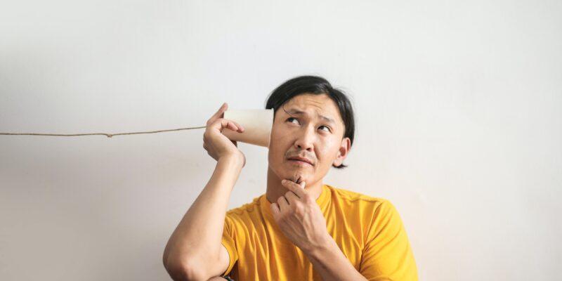 hearing through a tube