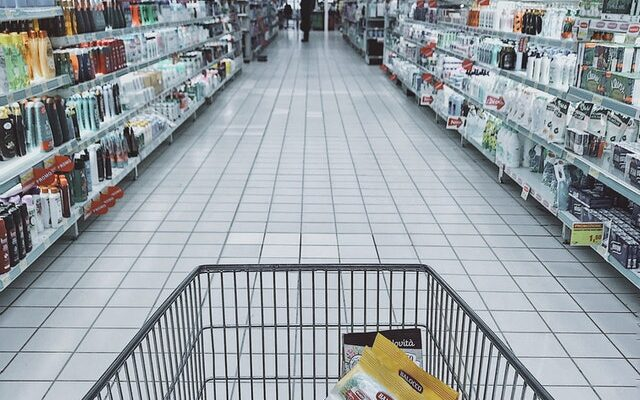 cart in supermarket